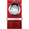LG 3.6-cu ft High-Efficiency Stackable Front-Load Washer with Steam Cycle (Wild Cherry Red) ENERGY STAR