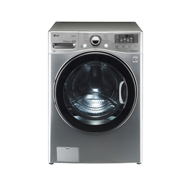 LG 4-cu ft High-Efficiency Stackable Front-Load Washer with Steam Cycle (Graphite Steel) ENERGY STAR