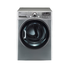 LG 7.3-cu ft Stackable Gas Dryer with Steam Cycles (Graphite Steel)