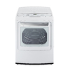 LG 7.3-cu ft Electric Dryer with Steam Cycles (White)
