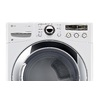 LG 7.3-cu ft Stackable Gas Dryer with Steam Cycles (White)