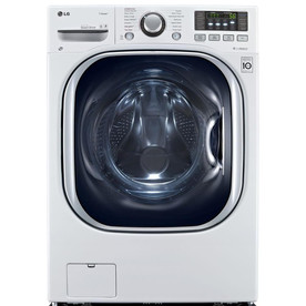 LG 4.3-cu ft Ventless Combination Washer and Dryer Steam Cycle (White)
