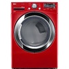 LG 7.4-cu ft Stackable Electric Dryer with Steam Cycles (Wild Cherry Red) ENERGY STAR