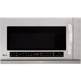 LG 2-cu ft Over-The-Range Microwave with Sensor Cooking Controls (Stainless Steel) (Common: 30-in; Actual: 29.86-in)