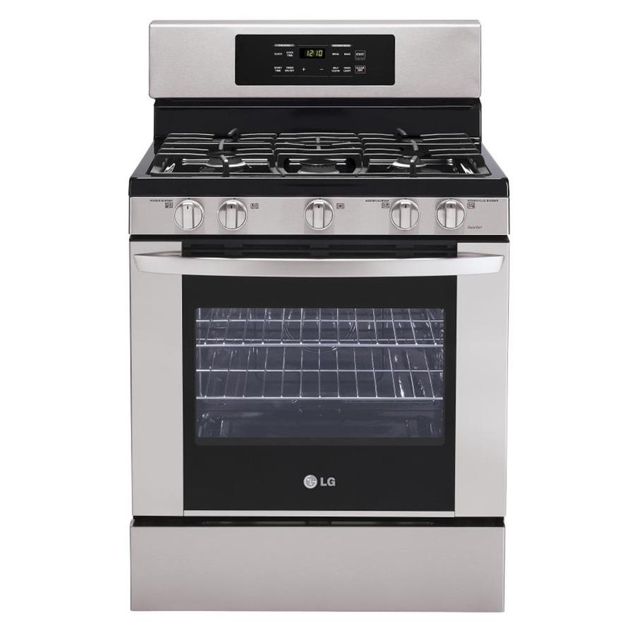 Stainless Steel Stove : ... Range (Stainless Steel) (Common: 30-in; Actual: 29.93-in) at Lowes.com