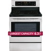 LG Smooth Surface Freestanding 6.3-cu ft Self-Cleaning Electric Range (Stainless Steel) (Common: 30-in; Actual: 29.87-in)