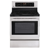 LG 30-in Smooth Surface Freestanding 4-Element 6.3 cu ft Self-Cleaning Electric Range (Stainless Steel)