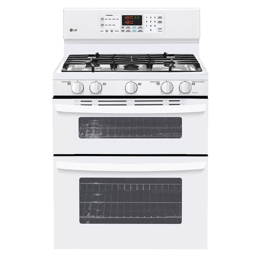 Shop Lg 30 In 5 Burner Self Cleaning Double Oven Gas Range