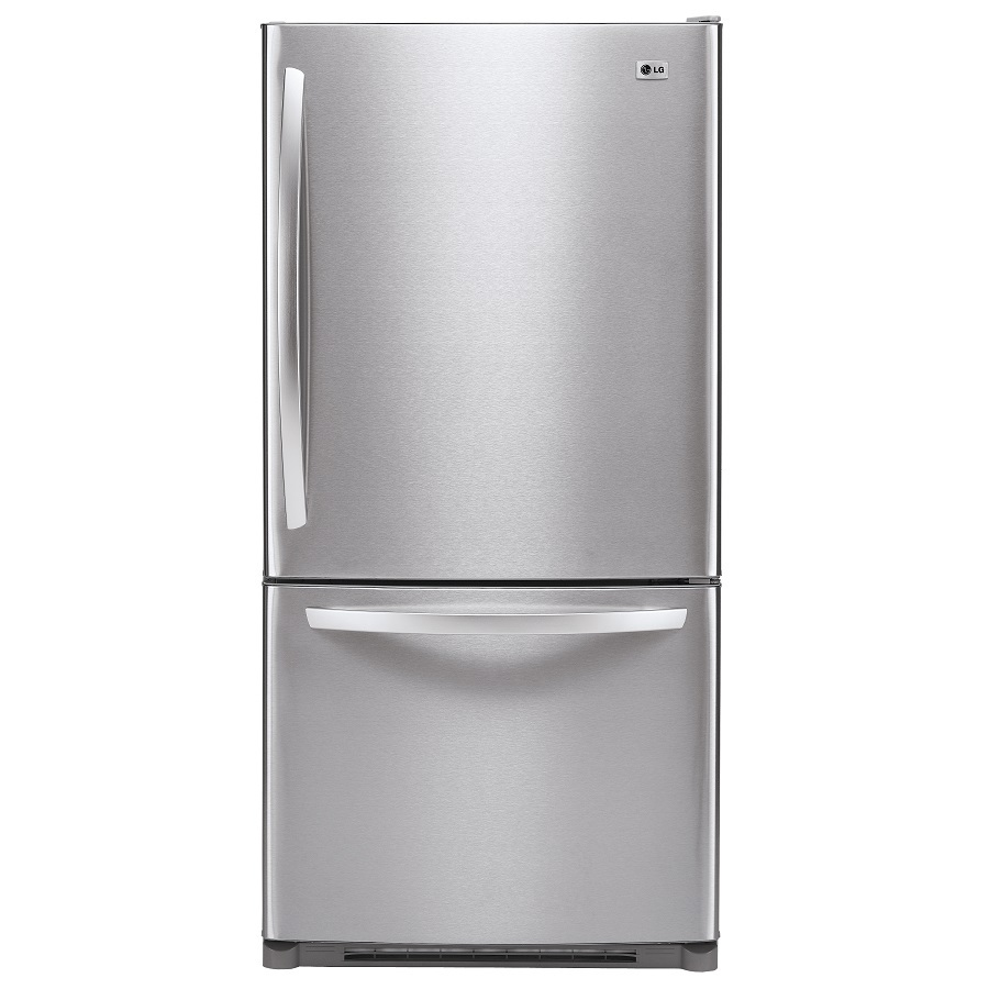 Shop Lg 22 4 Cu Ft Bottom Freezer Refrigerator Stainless