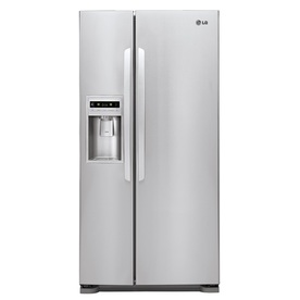 LG 23-cu ft Side-by-Side Refrigerator with Single Ice Maker (Stainless Steel) ENERGY STAR