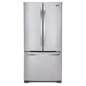 LG 24.9-cu ft French Door Refrigerator with Single Ice Maker (Stainless Steel) ENERGY STAR