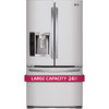 LG 24.7-cu ft French Door Refrigerator with Single Ice Maker (Stainless Steel)