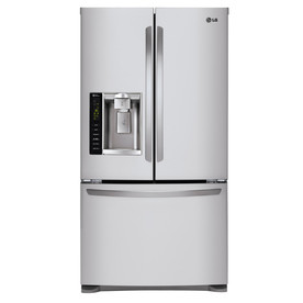 LG 24.1-cu ft 3 French Door Refrigerator Dual Ice Maker (Stainless Steel)