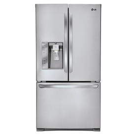 LG 24.5-cu ft Counter-Depth French Door Refrigerator with Single Ice Maker (Stainless Steel)