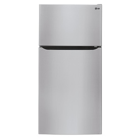LG 23.73-cu ft Top-Freezer Refrigerator with Single Ice Maker (Stainless Steel) ENERGY STAR