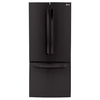 LG 21.8-cu ft French Door Refrigerator with Single Ice Maker (Smooth Black) ENERGY STAR
