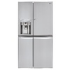 LG 21.6-cu ft Side-By-Side Refrigerator with Single Ice Maker and Door within Door (Stainless Steel)