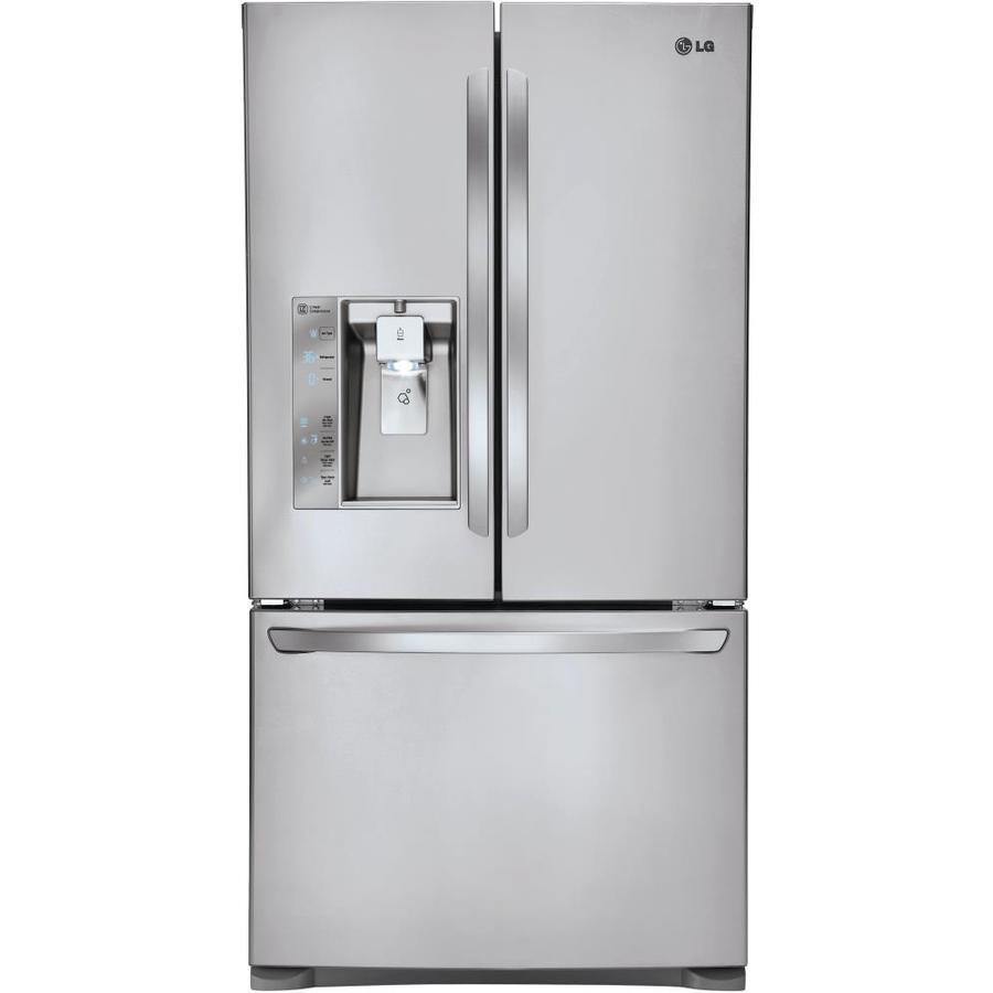 Shop Lg 24 Cu Ft Counter Depth French Door Refrigerator