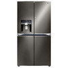 LG Black Stainless 29.8-cu ft 4-Door French Door Refrigerator with Single Ice Maker and Door Within Door (Black Stainless) ENERGY STAR