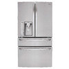LG 29.9-cu 4-Door French Door Refrigerator with Single Ice Maker (Stainless Steel) ENERGY STAR