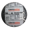 Cerro Wire 50-ft 8 AWG Stranded Black THHN Wire