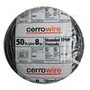 Cerro Wire 50-ft 8 AWG Stranded Black THHN Wire