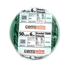 Cerro Wire 50-ft 6 AWG Stranded Green THHN Wire
