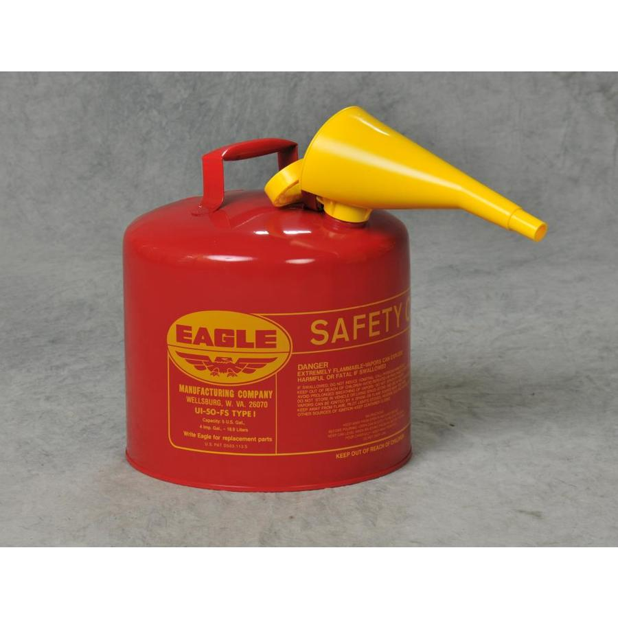 Shop Eagle 5-Gallon Metal Gasoline Can at Lowes.com