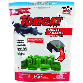 TOMCAT 16-Pack Indoor/Outdoor Rodent Poison Bait for House Mice