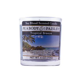 PEABODY & PAISLEY 4-oz Tropical Breeze Gold Jar Candle