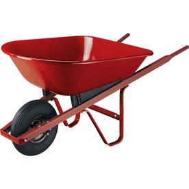 True Temper 4-cu ft Steel Wheelbarrow