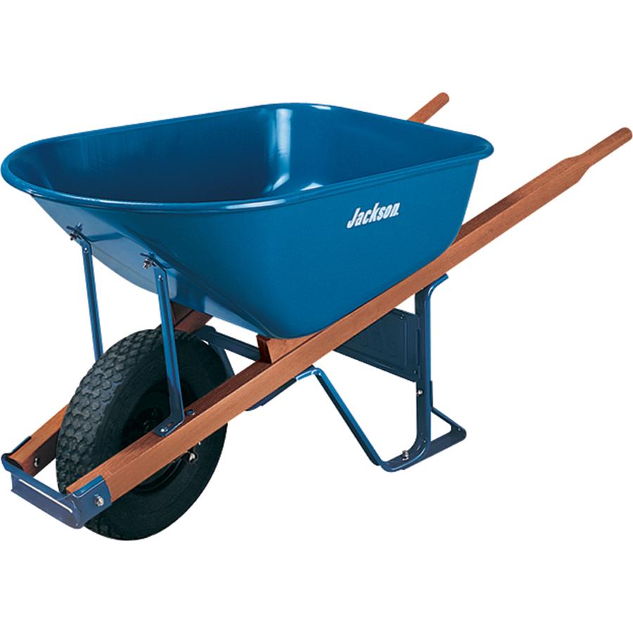 Shop Jackson 6 Cu Ft Steel Wheelbarrow Flat Free Tire At