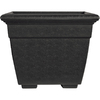 14.89-in H x 17.88-in W x 17.88-in D Black Plastic Planter