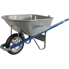 Kobalt 6-cu ft Steel Wheelbarrow with Flat-Free Tire