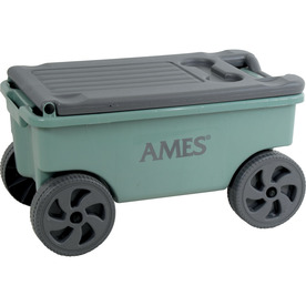 Ames 0.75-cu ft Poly Yard Cart