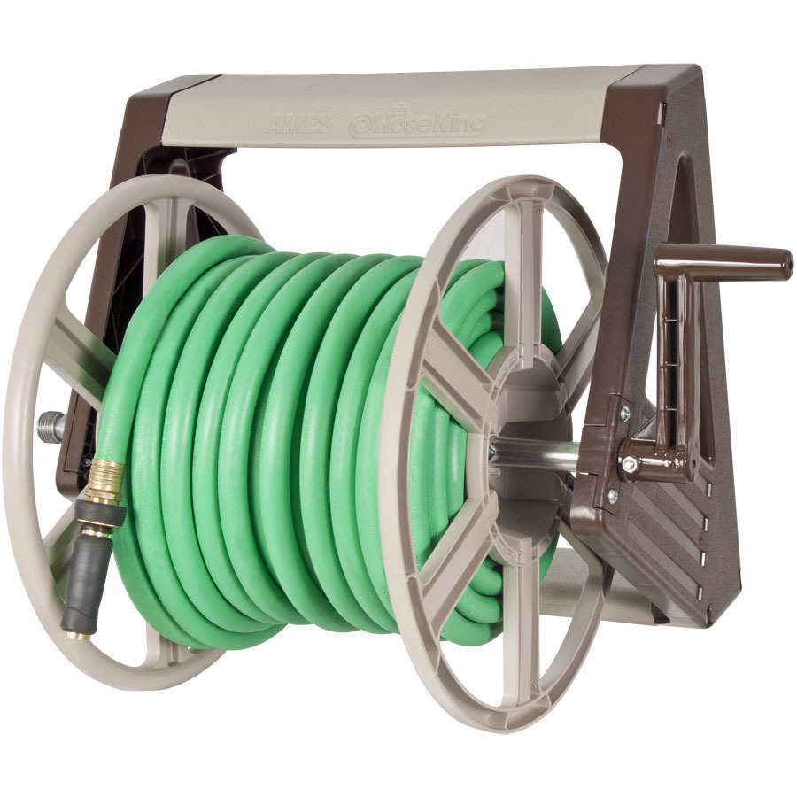 Shop Neverleak By Ames Plastic 225 Ft Wall Mount Hose Reel At