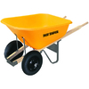 True Temper 8-cu ft Poly Wheelbarrow