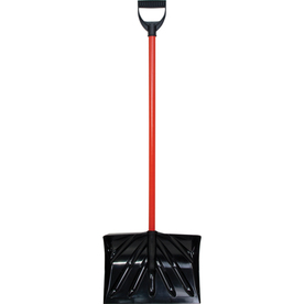 KLONDIKE 16-in Poly Snow Shovel with 36-in Steel Handle