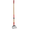 Garden Plus Fixed 4-Tine Long-Handle Cultivator