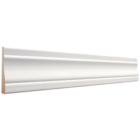 EverTrue 11/16-in x 3-1/2-in x 12-ft Primed Radiata Pine Casing Moulding (Pattern 444)