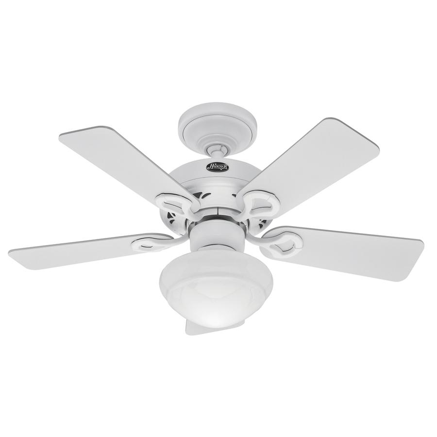 Lowes Tropical Outdoor Ceiling Fan: Shop Hunter 36-in Bainbridge Textured White Ceiling Fan