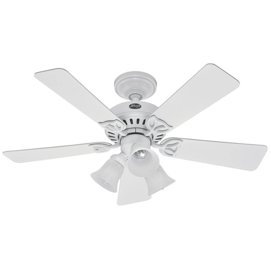 ... Hunter 42-in Beacon Hill White Ceiling Fan with Light Kit at Lowes.com