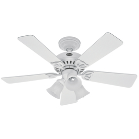 Hunter 42-in Beacon Hill White Ceiling Fan with Light Kit