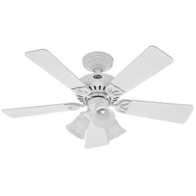 Hunter 42-in Beacon Hill White Ceiling Fan with Light Kit