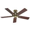 Hunter 52-in Savoy Antique Brass Ceiling Fan ENERGY STAR