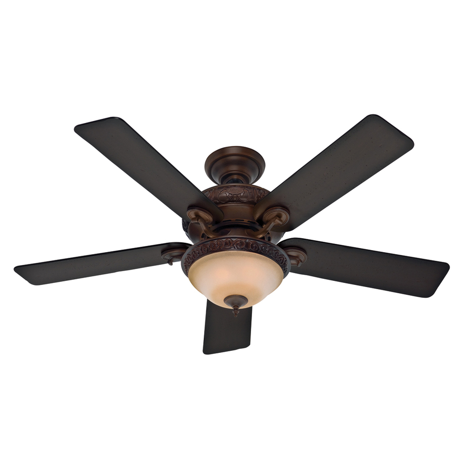 hunter 52 in vernazza cocoa ceiling fan with light kit at. Black Bedroom Furniture Sets. Home Design Ideas