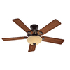 Hunter 52-in Sonora New Bronze Ceiling Fan with Light Kit ENERGY STAR