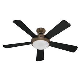 Hunter 52-in Palermo Brushed Bronze Ceiling Fan with Light Kit and Remote ENERGY STAR