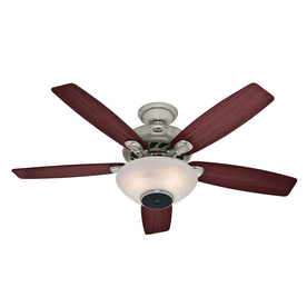 Hunter Concert Breeze 52-in Brushed Nickel Downrod or Close Mount Indoor Ceiling Fan with Light Kit and Remote