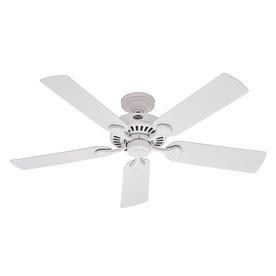 Hunter 52-in 5-Minute White Outdoor Ceiling Fan